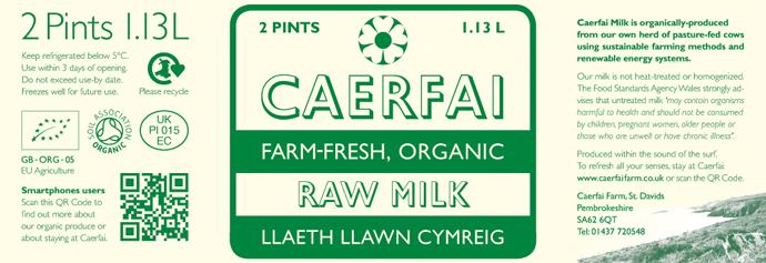 Caerfai Milk label