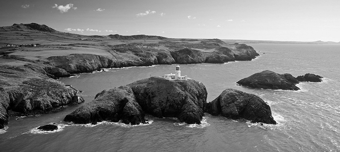 Strumble Head & Lighthouse Aerial Pembrokeshire Coast South Towns & Villages
